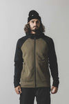 Nevis Wool Fleece Hood - Canteen / Black