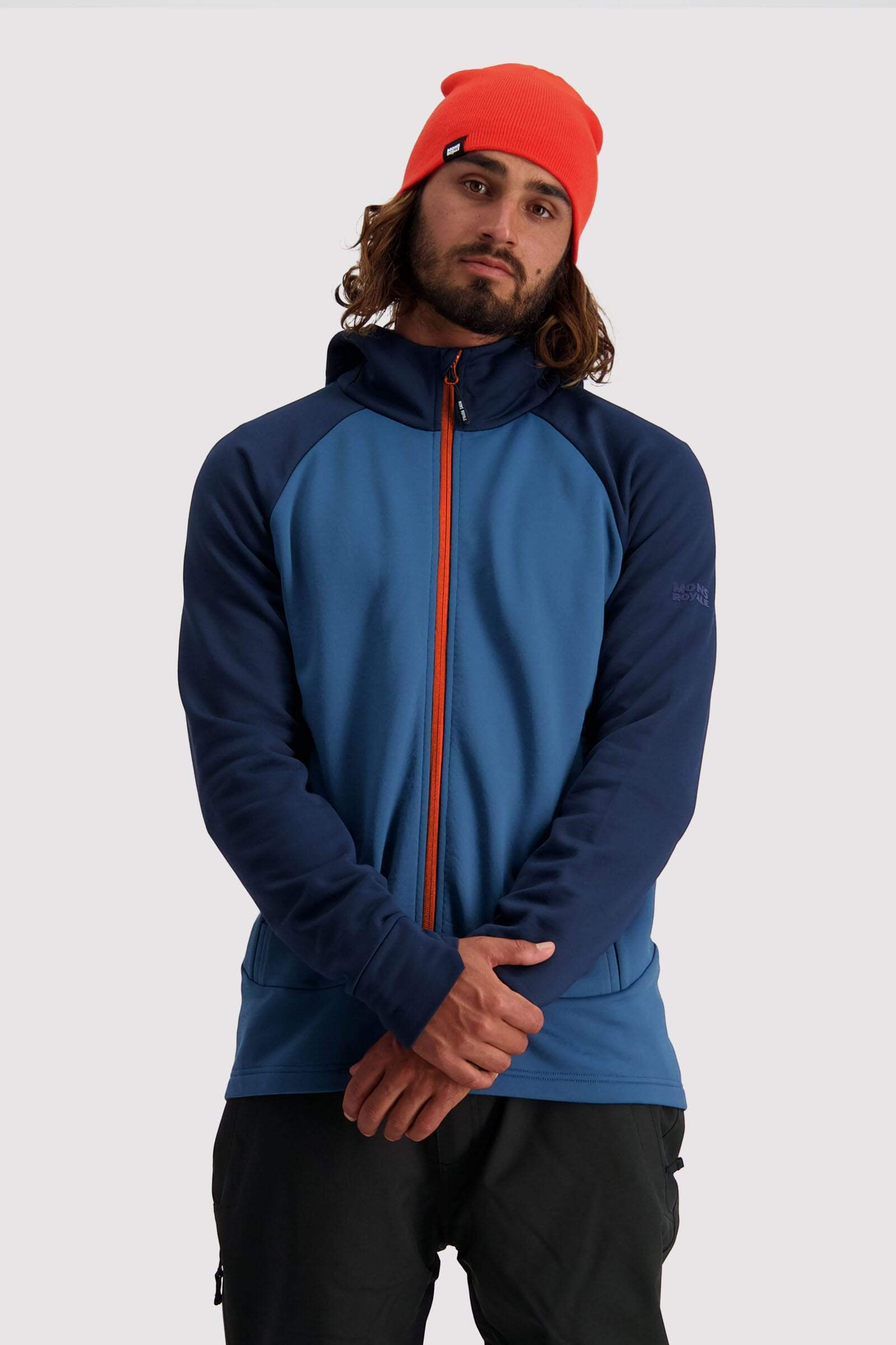 Nevis Wool Fleece Hood - Navy / Ink