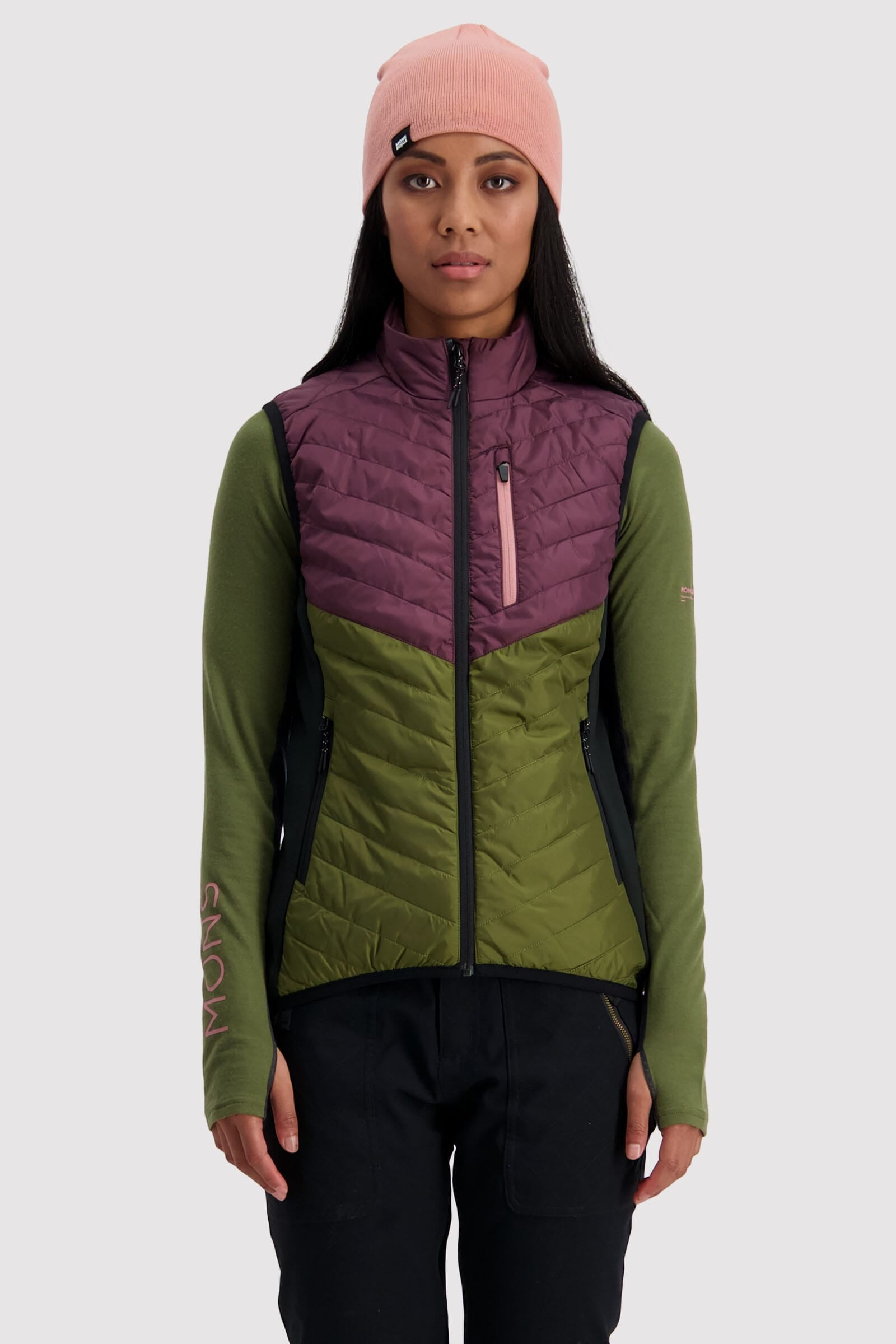 Neve Insulation Vest - Blackberry / Avocado