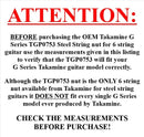 Takamine G Series Acoustic Guitar NUT TGP0753 / Pre Slotted / Genuine OEM Part