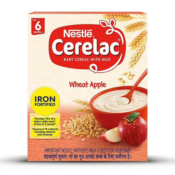 Nestlé CERELAC Fortified Baby Cereal with Milk, Wheat Apple - saagbazaronline.myshopify.com