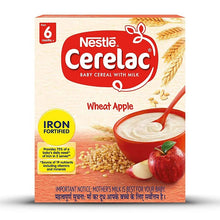 Load image into Gallery viewer, Nestlé CERELAC Fortified Baby Cereal with Milk, Wheat Apple - saagbazaronline.myshopify.com