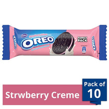 Load image into Gallery viewer, Cadbury Oreo Strawberry Crème Biscuits Pack of 10