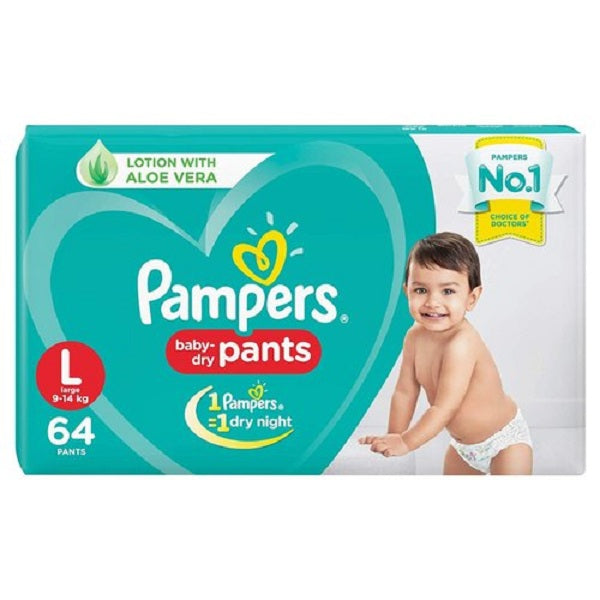 Pampers Baby Dry Diaper Pants Of All Sizes  76 Pieces - saagbazaronline.myshopify.com