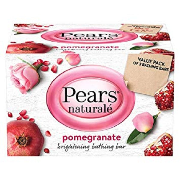 Pears Naturale Pomegranate Brightening Bathing Soap Bar Pack of 3 - saagbazaronline.myshopify.com