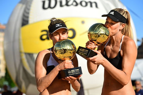 Beach Volleyball trophies from the AVP