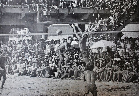 Beach Volleyball historical Photograph