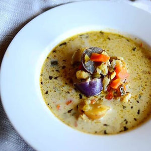 mirepoix, oomph, oomph cooking blends, fish stew, dinner, creamy soup, stew, potato soup
