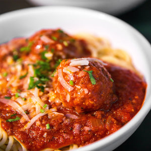 refogado, meatballs, noodles, pasta dinner recipe, red sauce, italian food, meat sauce, oomph, cooking blends, big flavor and nutrition in a pinch, flavor food with food, savory, dinner