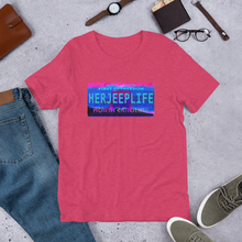 Load image into Gallery viewer, HerJeepLife NC License Plate Premium T-Shirt