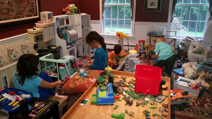 Setting up my dining room like a center based preschool may seem excessive…