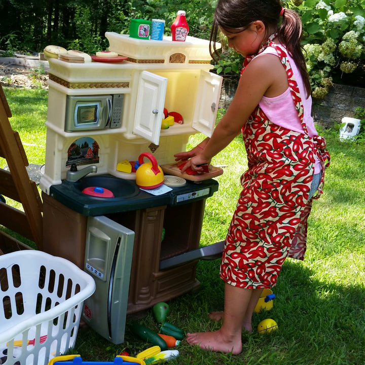 Kitchen play is hours of screen free fun!