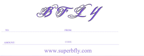 GIFT CERTIFICATE - BFLY