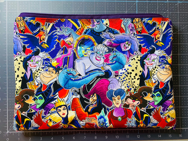 DISNEY VILLAINS pouch or laptop bag