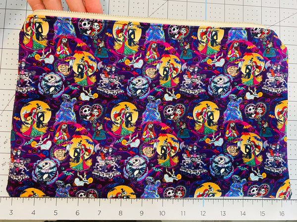 CUSTOM NIGHTMARE BEFORE CHRISTMAS ZIP POUCH
