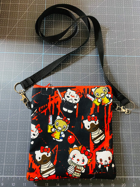 KILLER KITTY BAG WITH LEATHER STRAPS
