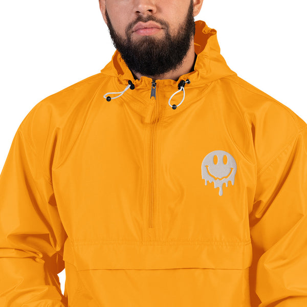 SMILEY MELTY FACE EMBROIDERED PACKABLE WINDBREAKER CHAMPION JACKET