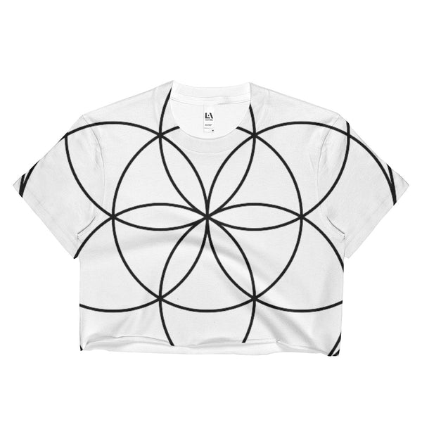 SEED OF LIFE Ladies Crop Top - BFLY