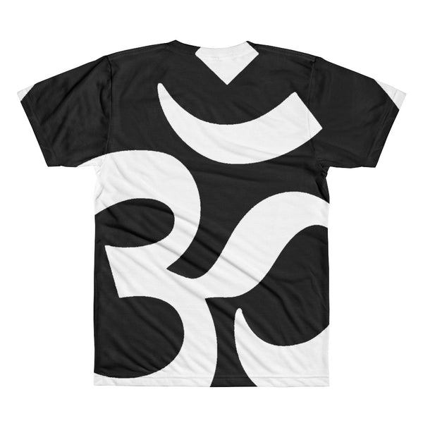 BLACK N WHITE OM All-Over Printed T-Shirt