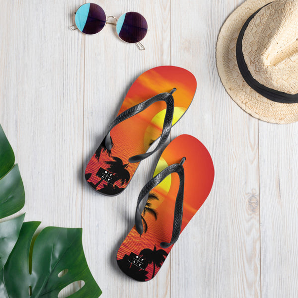TROPICAL SUNSET FLIP FLOPS