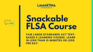 Snackable HR text-based e-learning course on the Fair Labor Standards Act (FLSA)
