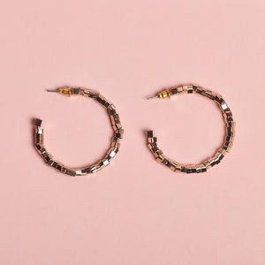 Golden Bead Hoops