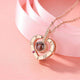 Delicate Heart 100 Language I Love You Projection Rose Gold Pendant For Women/Girls