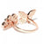 Rose Gold Plated American Diamond Free Size Fashion Ring