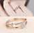 Adorable American Diamond Heart Designs Rose Gold Plated Adjustable Ring For Women/Girls