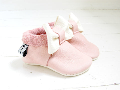 Little Bow - Baby Pink - Kinder Feet - 1