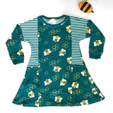 Custom Made Pocket Dress with long sleeves - Pick your Own Fabric Combination