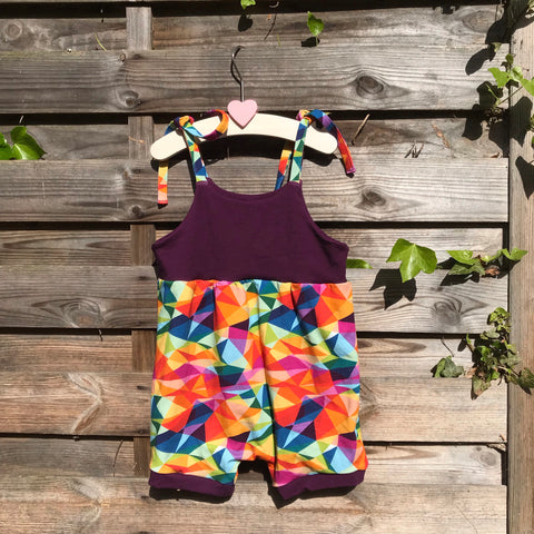 Custom Made Play Suit- Pick your Own Fabric Combination