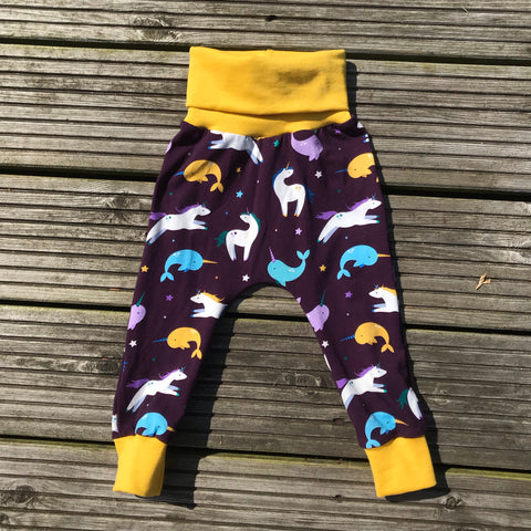 Narwicorn snuggle trousers  - 9-12 months