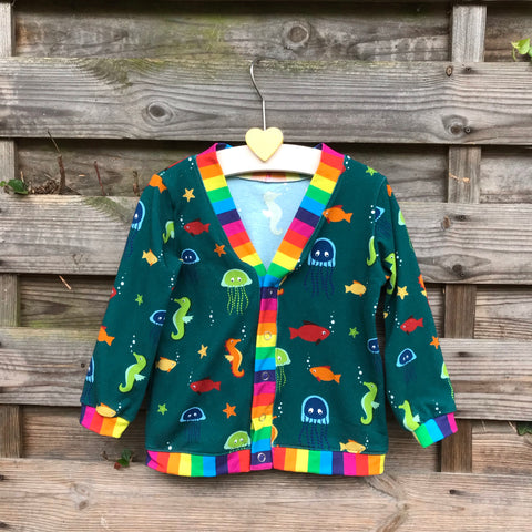 Under the sea cardigan - 18-24 months
