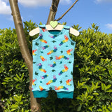 Custom Made Short Dungarees - Pick your Own Fabric Combination