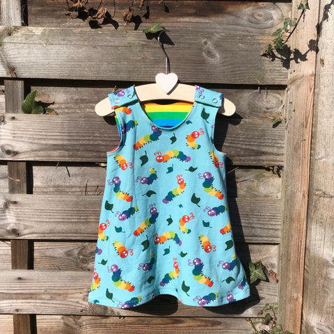 Custom Made Pinafore Dress - Pick your Own Fabric Combination