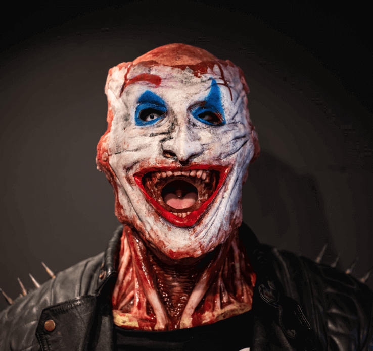 CREEX™™ Halloween Double Layer Gory Horror Mask
