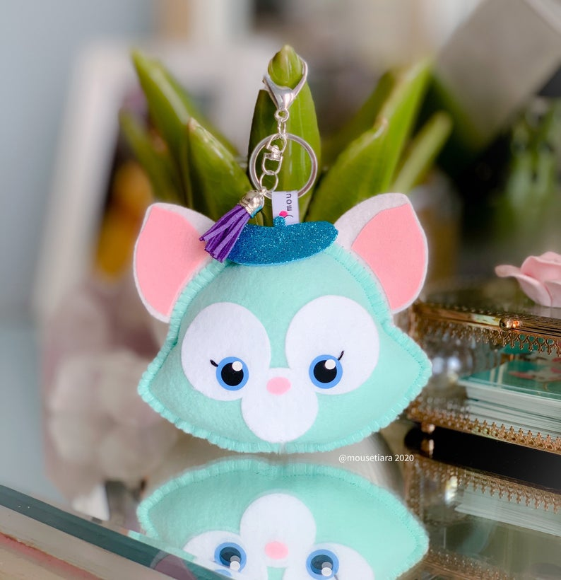 Cat  | Mouse Keychain