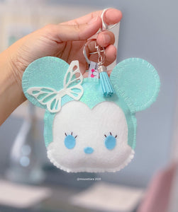 Glitter Blue | Mouse Keychain