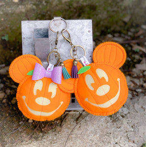 Orange Pumpkin Set  | Mouse Keychain