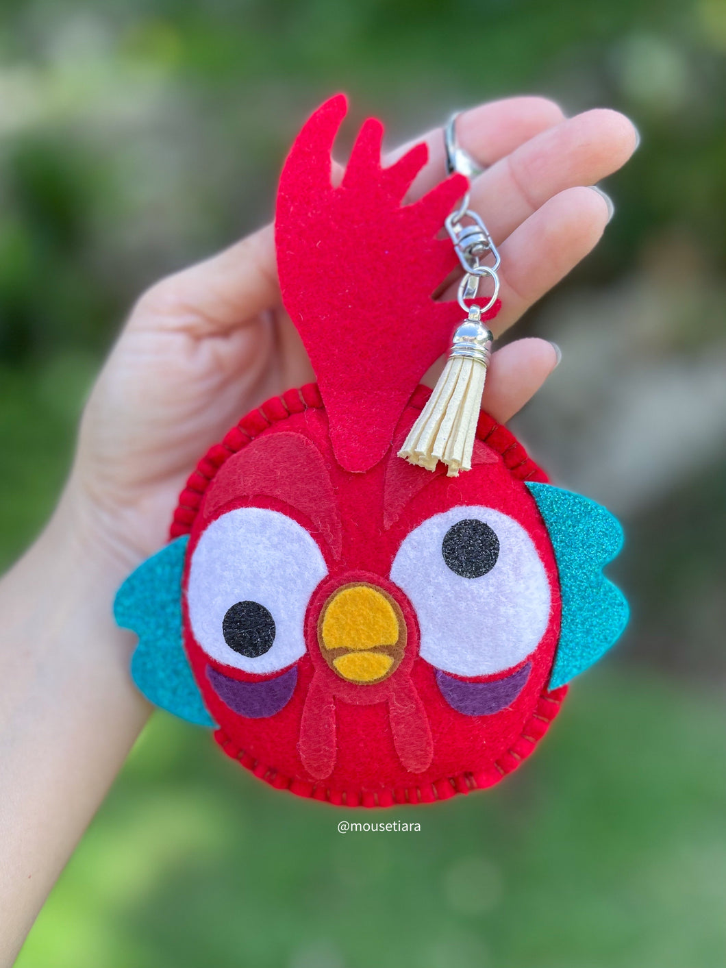 Crazy rooster  | Mouse Keychain