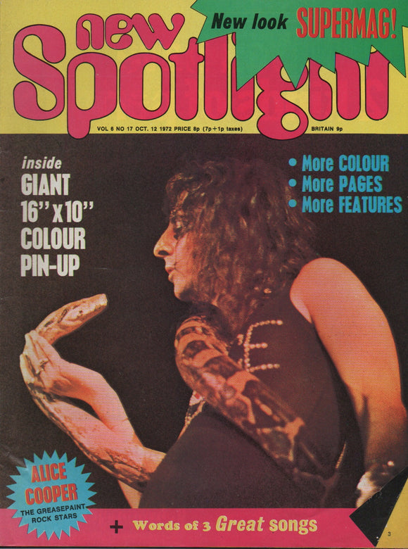 New Spotlight Magazine Vol. 6 No. 17 Oct. 12 1972