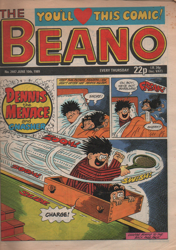 The Beano, No. 2447 June 10th 1989