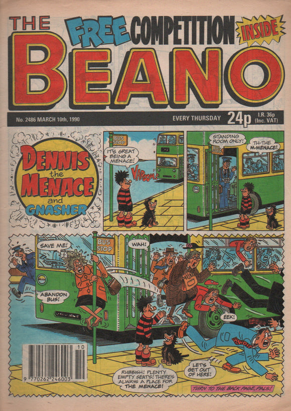 The Beano, No. 2486 March 10th 1990