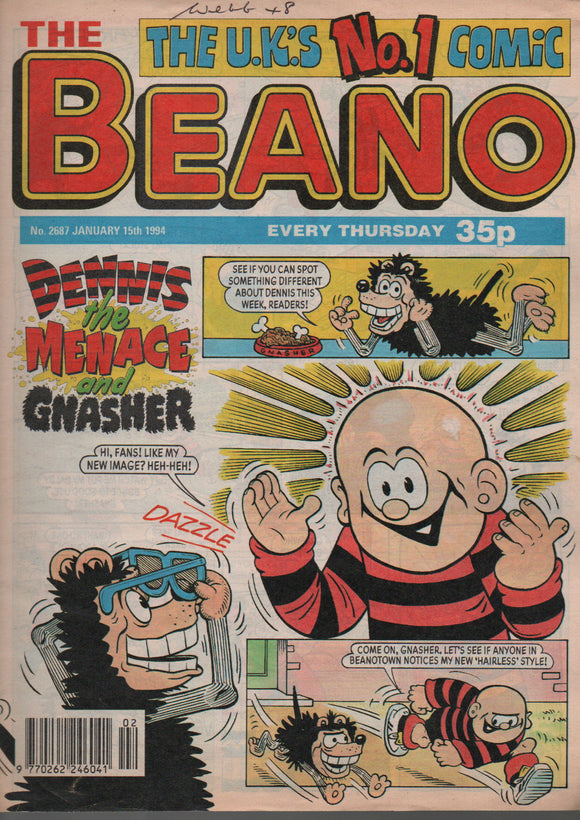 The Beano, No. 2687 January 15th 1994