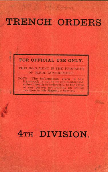 Trench Orders WWI Replica Booklet