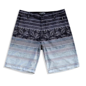 N90-S8069 (Monstera divide-onyx/grey), Men Submersible Shorts (4-way-stretch)