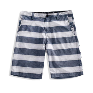 N90-S5600 (Blue/gray stripe), Men Submersible Shorts (4-way stretch)