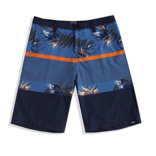 Load image into Gallery viewer, N90-S6222 (Verdant band-blue/steel), Men Submersible Shorts (4-way stretch)