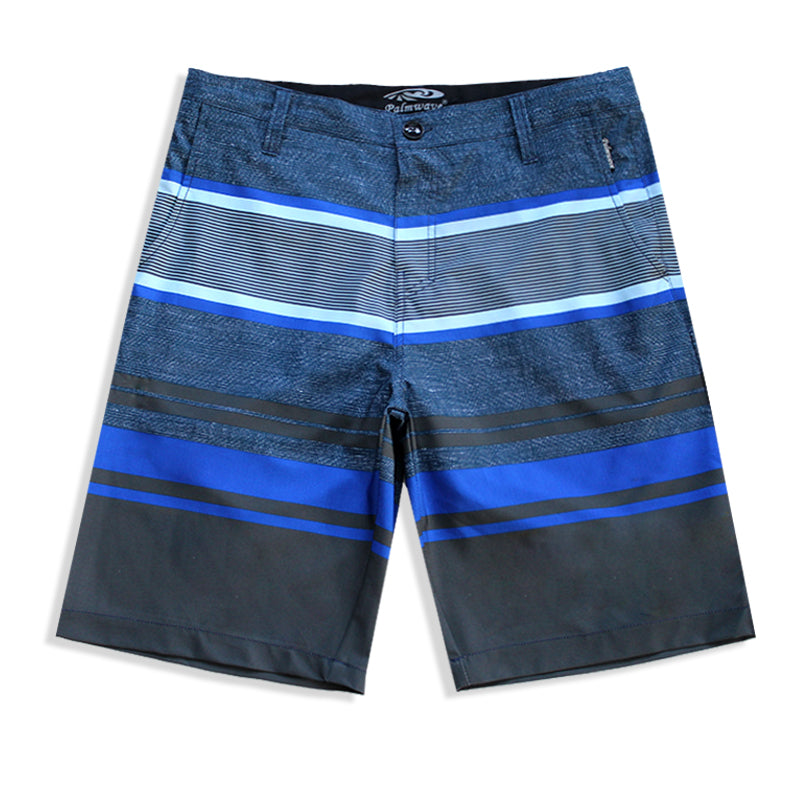 N90-S8162 (Delta bands-true blue), Men Submersible Shorts (4-way-stretch)